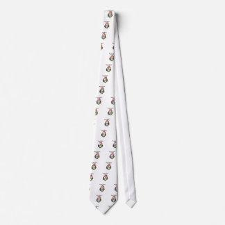 Santa Christmas Owl Tie