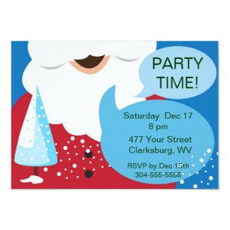 Santa Christmas Party Card