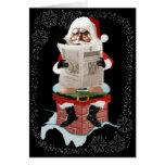 Santa Christmas Party Pooper Greeting Cards