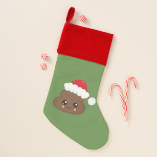 santa christmas poop emoji stocking - Christmas Poop