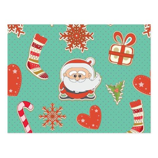 Santa Christmas Post Card