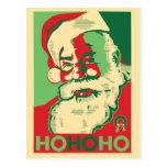 Santa Christmas Postcard - HoHoHo