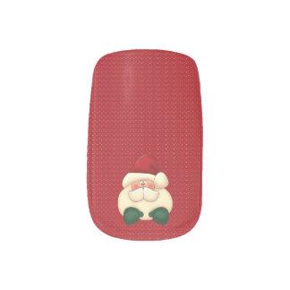 Santa | Christmas | Red and White Polka Dot Minx® Nail Art