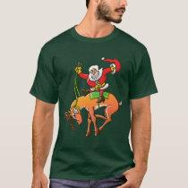 Santa Christmas Rodeo T-Shirt