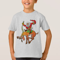 Santa Christmas Rodeo T-Shirt