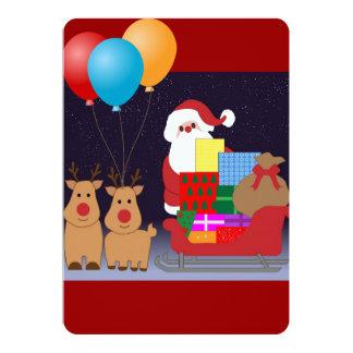 Santa Christmas Shower Party Balloon Peace Destiny Card