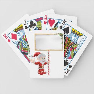 Santa Christmas Sign Illustration Deck Of Cards