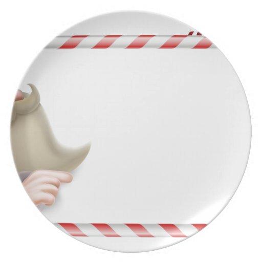 Santa Christmas Sign Party Plates