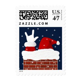 Santa Christmas Stamps I Love You in ASL