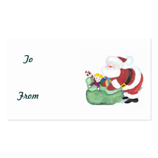 SANTA CHRISTMAS TAGS Double-Sided STANDARD BUSINESS CARDS (Pack OF 100)
