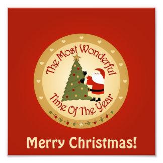 Santa Christmas Tree Photo Art