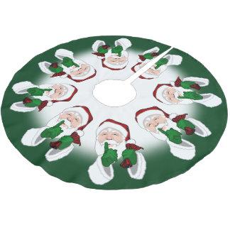 Santa Christmas Tree Skirt Holiday Santa Decor