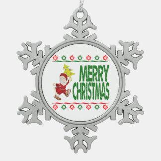 Santa Christmas Tree Ugly Xmas Sweater Ornament Ornaments