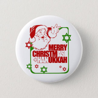 Santa Christmukkah Button