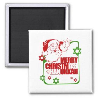 Santa Christmukkah Imanes De Nevera