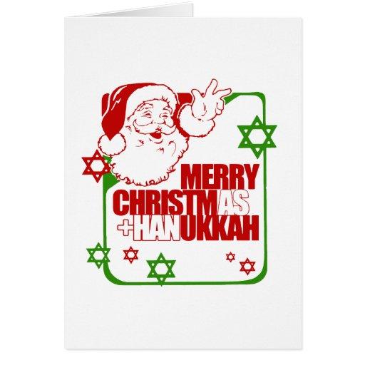 Santa Christmukkah Tarjeta
