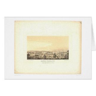 Santa Clara, CA. Panoramic Map 1856 (1585A) Card