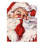 Santa clásico postales