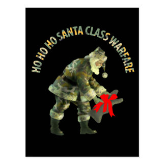Santa Class Warfare Postcard