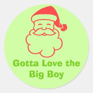 Santa Classic Round Sticker