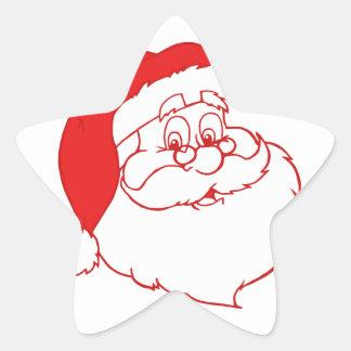 Santa claus2 pegatina en forma de estrella