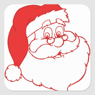Santa claus2 square sticker