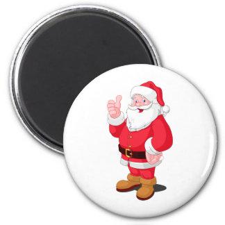 Santa Claus 2 Inch Round Magnet