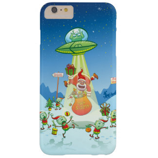 Santa Claus Abducted by a UFO just before Xmas Barely There iPhone 6 Plus Case