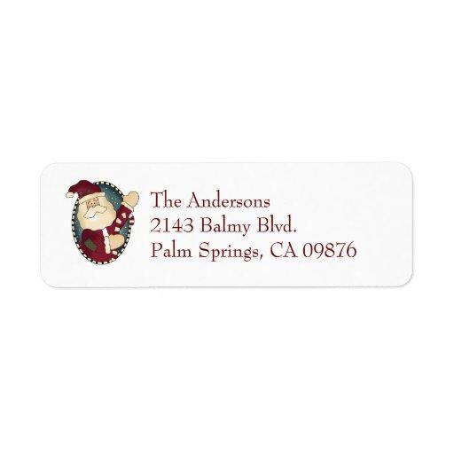 Santa Claus Address Label | Zazzle