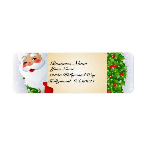 Santa Claus Address Labels | Zazzle