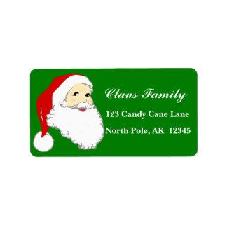 Santa Claus Address Labels Personalize Customize