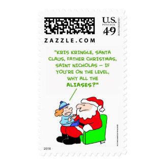 santa claus aliases postage