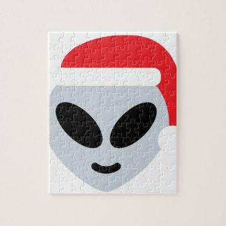 santa claus alien emoji jigsaw puzzle