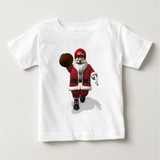 Santa Claus American Football Player Baby T-Shirt