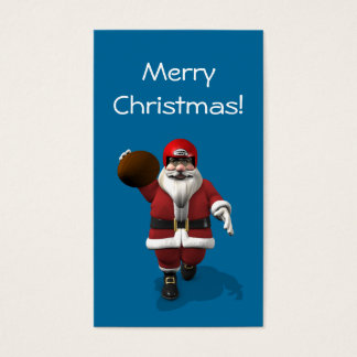 Santa Claus American Football Player Business Card