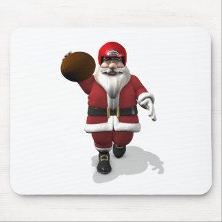 Santa Claus American Football Player Mouse Pad