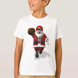 Santa Claus American Football Player T-Shirt