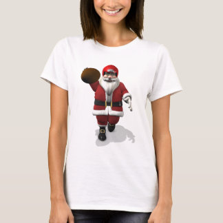 Santa Claus American Football Player T-Shirt