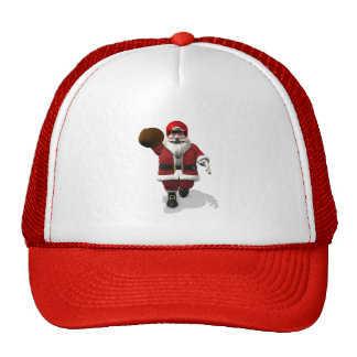 Santa Claus American Football Player Trucker Hat