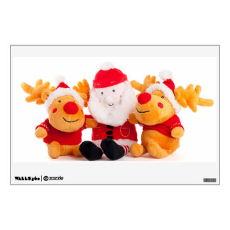 Santa Claus and 2 reindeer toys Wall Decal