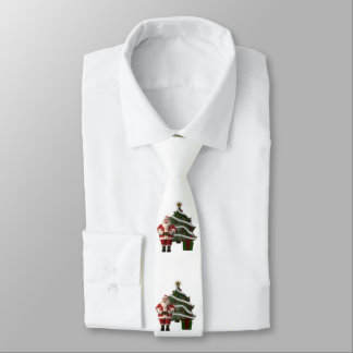 Santa Claus and a Christmas tree Necktie