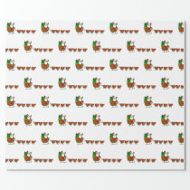 Santa Claus And Chickens Wrapping Paper