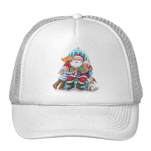Santa Claus and Children, Cat, Dog Trucker Hat