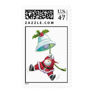 Santa Claus and Christmas Bell Stamp