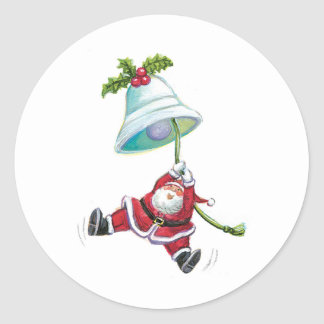 Santa Claus and Christmas Bell Stickers