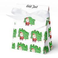 Santa Claus and Christmas Tree Lot Party Favor Box