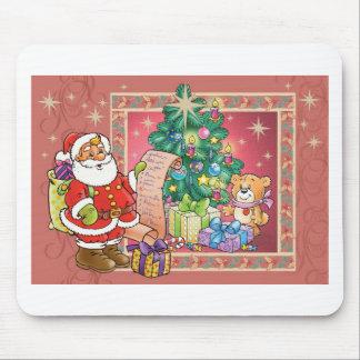 Santa Claus and Christmas Wish List Mouse Pad