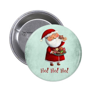 Santa Claus and Cookies Button