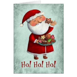 Santa Claus and Cookies Card