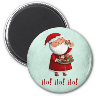 Santa Claus and Cookies Fridge Magnet